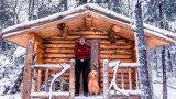 Building a Sauna Cabin with Logs in the Wilderness Alone with My Dog | Start to Finish